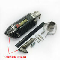 Carbon Fiber for 51mm Motorcycle Short Exhaust Muffler Pipe DB Killer Universal