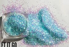 Nail glitter 5g iridescent blue let it go FINE for Acrylic or gel 2016