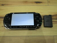 Sony PSP 1000 Console Piano Black w/battery Pack Japan o709