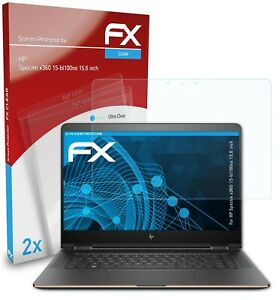 atFoliX 2x Screen Protector for HP Spectre x360 15-bl100na 15,6 inch clear