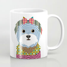 Mug Maltese Dog Coffee Tea White Ceramic Pet Drinkware Cup Puppy Cute Gifts 11Oz
