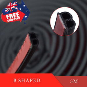 16ft 5M B Shape Trim Rubber Strip Universal Car Door Edge Seal Weather-strip
