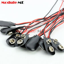 10PCS MN1604 9V PP3 9volt Battery Holder Clip Snap On Connector Cable