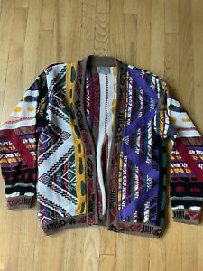 COOGI Australia Mercerized Cotton Colorful Cardigan Sweater Size Small