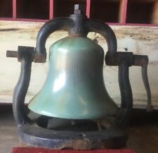 "Antique Large 16"" Train Steam Locomotive Engine Bronze Bell With Yolk"