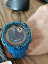 Garmin Instinct Solar Rugged Outdoor Watch with GPS - Tidal Blue