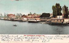 ALAMEDA CALIFORNIA HOUSEBOATS~E P CHARLTON PUBL POSTCARD 1907