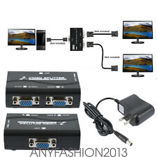2Port VGA Splitter 1To2 Monitors VGA Screen Video Splitter Box 1920×1440 DM3