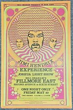 JIMI HENDRIX EXPERIENCE  BG Fillmore East Concert Poster 1968 Second Printing