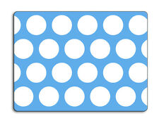 Work top saver, Glass Chopping board 40 x 30 Polka Dot design choice of colours