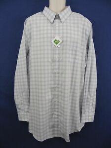 K.S. SIGNATURE Mens 18-37/38 2XLT X-TALL Cotton Blend Lavender Plaid Dress Shirt