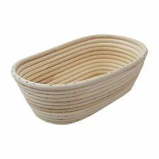 More details for schneider bread proving basket - ivory 100% natural rattan - oval - 750 g
