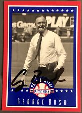 George Bush Authentic Hand Signed Sports Card President Republican