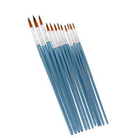 12Pcs Tip Art Brushes Craft Work Painter Artist Oil Acrylic Watercolor Paint
