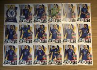 MATCH ATTAX 2020/21 FULL TEAM SET OF ALL 18 CHELSEA CARDS CHE1-CH18