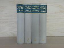 4 Bände Franz Karl Ginzkey Ausgewählte Werke Gedichte Novellen Romane