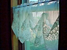 White Gathered Lace Valance Curtain Panel A289 Floral