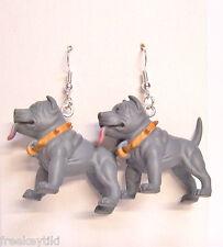 """NEW Blue Pitbull Pit Bull Terrier Dogs 1.5"""" Hood Hounds Figures Dangle Earrings"""