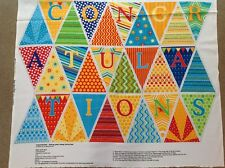 Print fabric(Bunting congratulation)