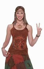 Peace Sign Tank Top 60's Hippie Shirt Dress Up Halloween Adult Costume Accessory