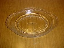 EAPG Clear Scalloped Tape / Jewel Band Bread Plate