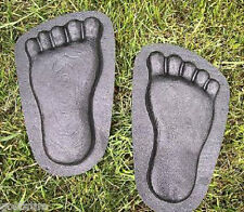"Feet footprint molds plaster concrete plastic moulds 10"" x 6"" x 1"""