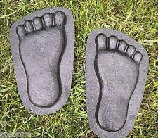 set of feet plaster,concrete footprint plastic molds garden moulds