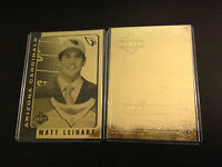 MATT LEINART Arizona Cardinals LTD. ED. 2006 NFL 23K GOLD ROOKIE CARD