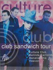CULTURE CLUB BANANARAMA HEAVEN 17 club sandwich 1999 tour programme 16 pages