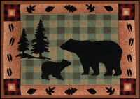 Bear Lodge ~ Bear Silhouette Tapestry Accent Rug