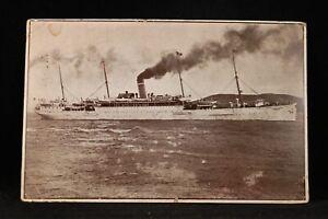 Hawaii: Honolulu 1907 #300b Booklet Pane Pair USAT Thomas Ship Postcard