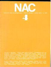 NAC ARTE CONTEMPORANEA APRILE 1973 N. 4  SIRONI PATELLA POP ART MULAS BORDONI