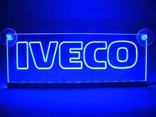 24 Volts IVECO ENGRAVED ILLUMINATING BLUE LED NEON PLATES 24V/5W