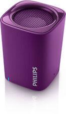 Philips BT100V Wireless Portable Bluetooth Speaker w/Microphone Violet Purple