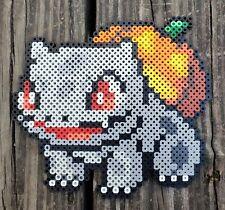 Jack O' Lantern Bulbasaur Pokémon Pixel Art Perler Bead Art