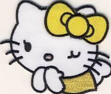 Hello Kitty - Candy gelb - Aufnäher Aufbügler Bügelbild Patch - Neu #9119