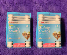 2- Cvs Health Baby Safety Swabs ~ 55 Cotton Swabs ~ Q Tips