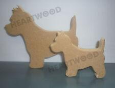 Westie dog pair in MDF (150mm & 100mm x 18mm thick)/Wooden craft