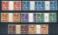 MEMEL 1920 18-23ZW/MS ** POSTFRISCHE STEGE + JAHRESZAHL 360€(S1441