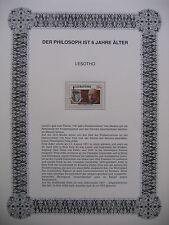 Irrtümer auf Briefmarken / Lesotho 1986 Mi 585 : Freiheitsstatue - Felix Adler