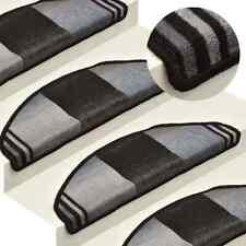 vidaXL 15x Tapis d'Escalier Autocollants Noir et Gris Protecteur Moquette
