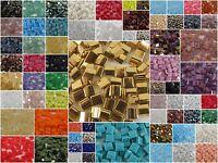 Miyuki TILA Japanise Beads Spacer 2 HOLE FLAT SQUARE BEAD #37-599