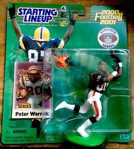 2000 Peter Warrick Rookie Ext.  Starting Lineup mint in pkg w/ Football Card