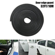 Black Edge Door Guard Trim Car Molding Protector Auto 32ft Strip Moulding Guards