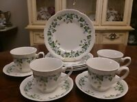 JOHNSON BROTHERS 12pc LOT VINTAGE BLUE MORNING GLORY FINE ENGLISH TABLEWARE
