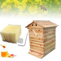 Bee Hive House For Beekeeper Auto Beehive Wooden Box Upgraded Beekeeping Brood