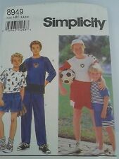 SIMPLICITY 8949 SIZE HH 3-6  BOYS KNIT PANTS,SHORTS,TOP