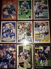 f. Indianapolis Colts NFL football card auto autograph LOT X9 Jacob Tamme +more!