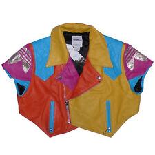 Adidas x Jeremy Scott Leather Biker Vest XS