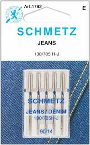 Sewing Machine Needles for Jeans & Denim by Schmetz Jeans - Various Sizes Pack 5